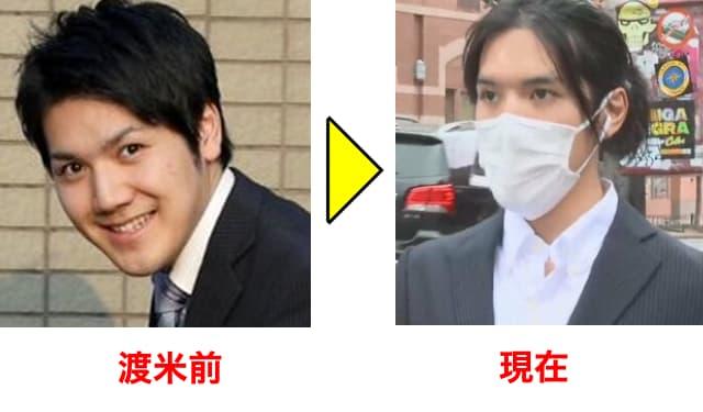 小室圭の顔の長さを比較する画像